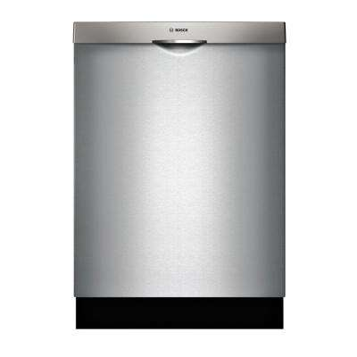 300 Series Top Control Tall Tub Pocket Handle Dishwasher in Stainless Steel with Stainless Steel Tub and 3rd Rack, 44dBA