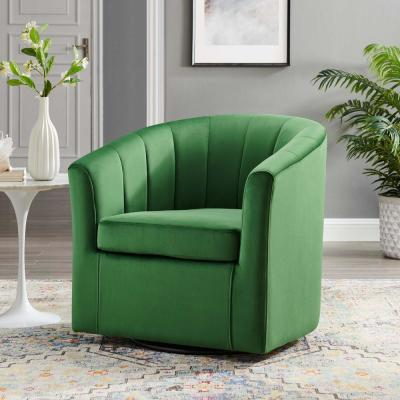 Prospect Emerald Performance Velvet Swivel Armchair