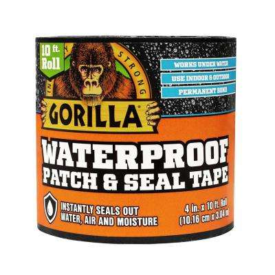 4 in. x 10 ft. Black Waterproof Patch and Seal Tape (4-Pack)