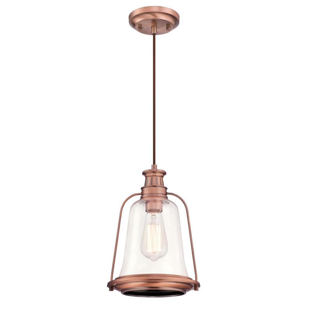 Brynn 1-Light Washed Copper Mini Pendant