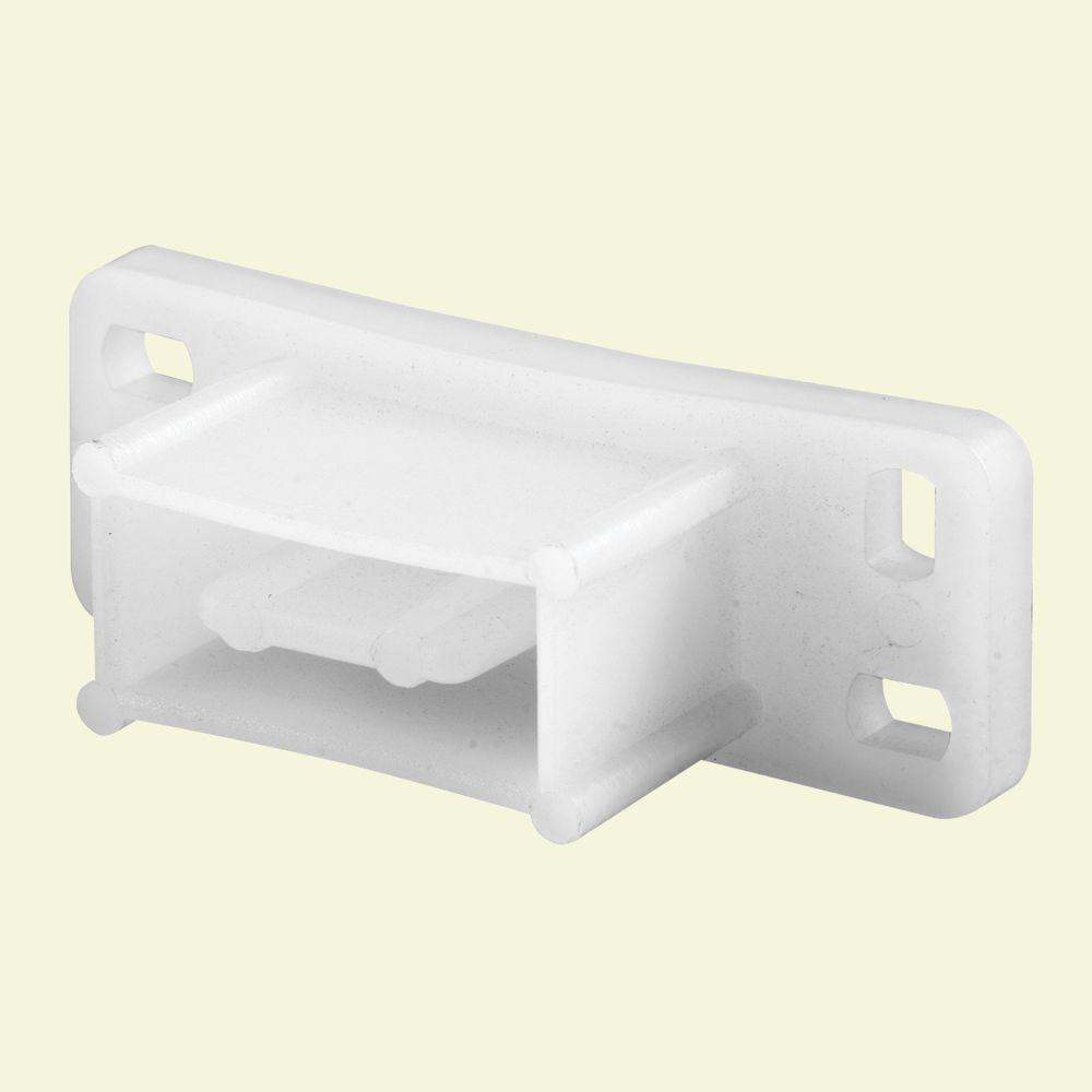 Prime-Line White Nylon Drawer Track Backplate