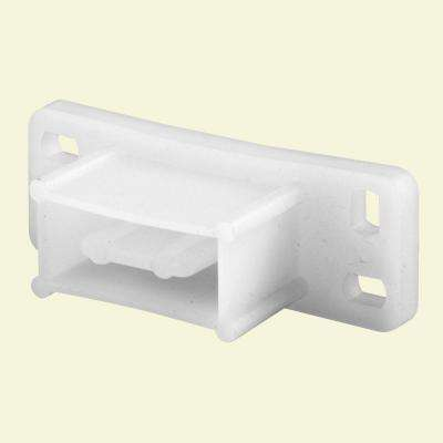 White Nylon Drawer Track Backplate