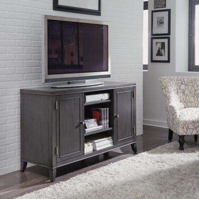 5th Avenue TV Entertainment Stand Credenza in Gray Sable