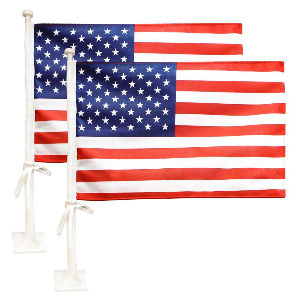No Flag Pole POYOMUK Army Veteran USA Flag Car Flag Garden Flag 12 x18 inch for Cars,Suvs Vehicle Flag Window Clip Mount Garden Outdor Decor