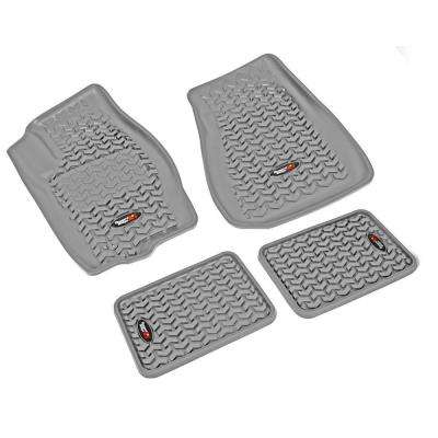 Floor Liner Set 4-Piece Gray 2005-2010 Jeep Gr and Cherokee WK