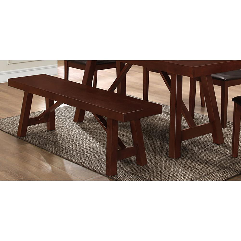 Walker Edison Furniture Company Espresso Bench Hdbw60tres The Home Depot