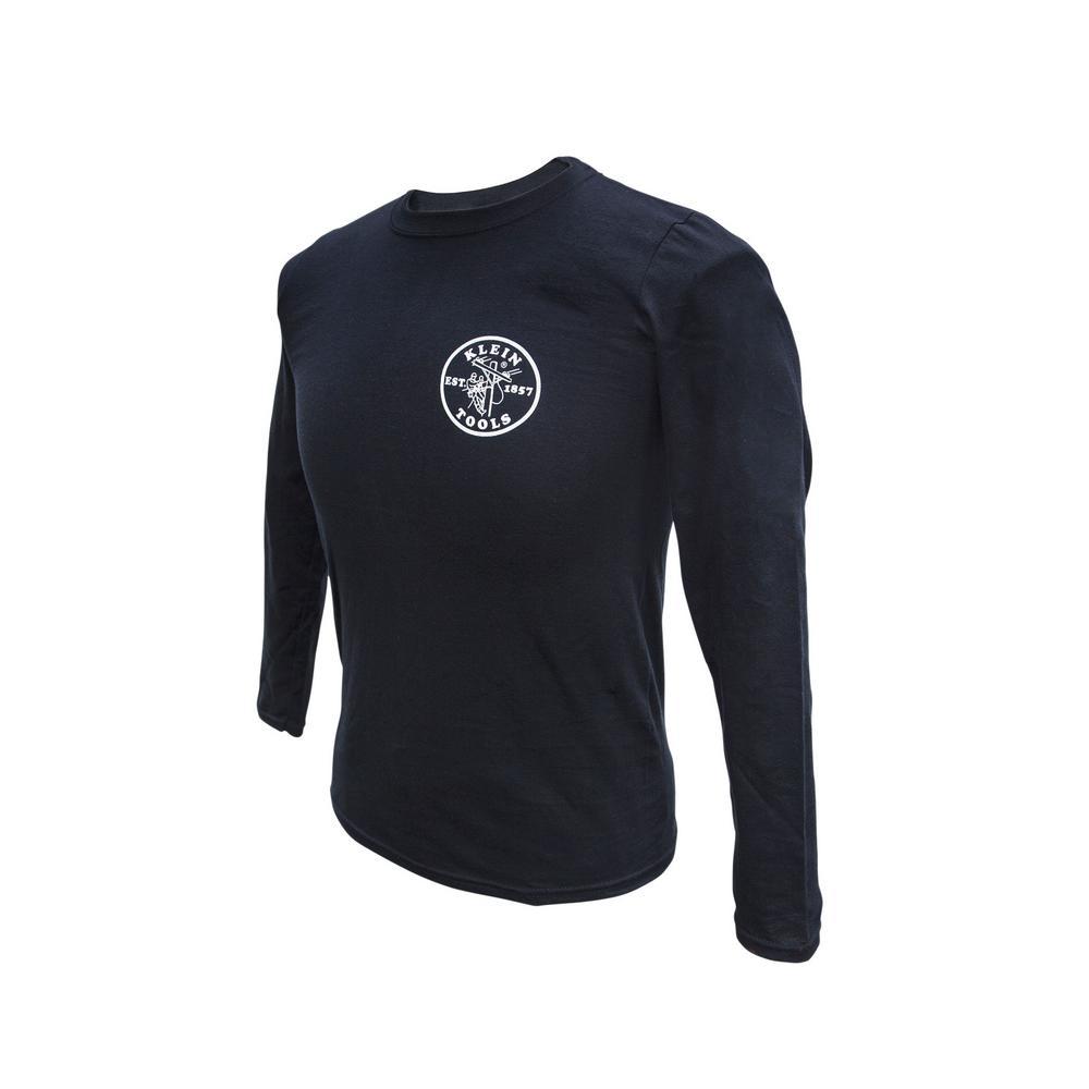 Men's Size Large Black Cotton Long Sleeved T-Shirt