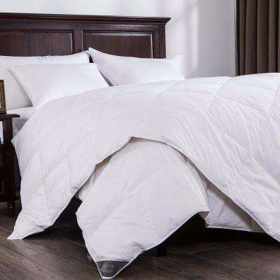 Lightweight White Duck Down Comforter King in White