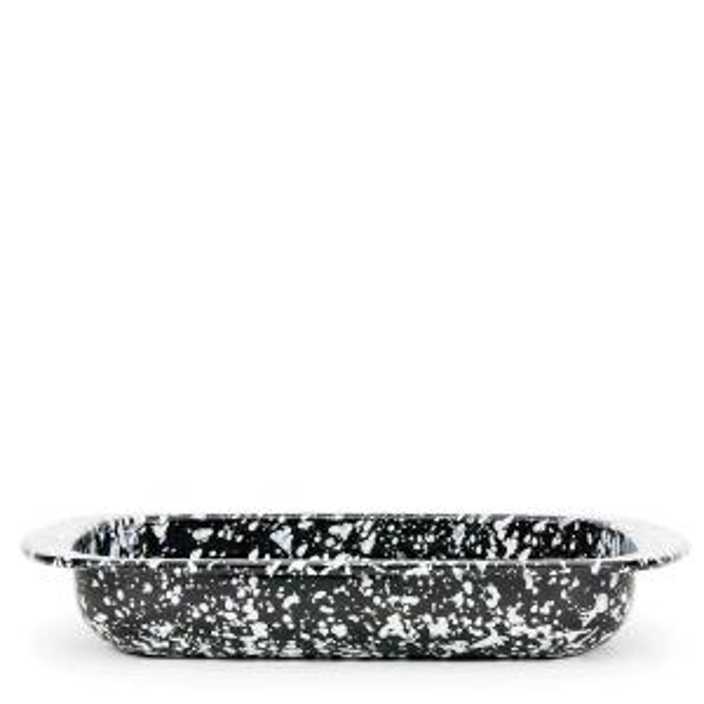 Black Swirl 4.5 qt. Enamelware Baking Pan