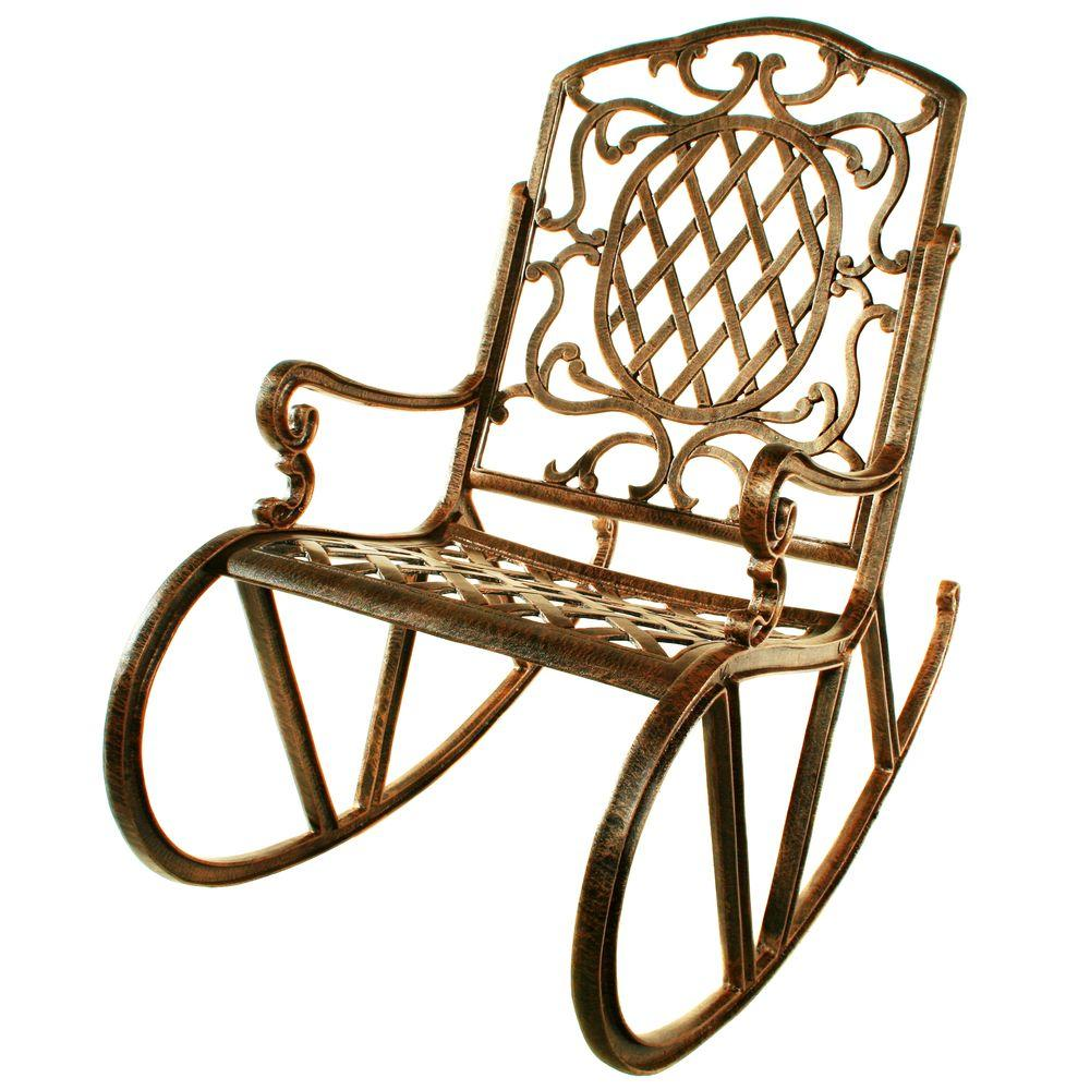 Oakland Living Mississippi Patio Rocking Chair  sc 1 st  Home Depot & Oakland Living Mississippi Patio Rocking Chair-2114-AB - The Home Depot