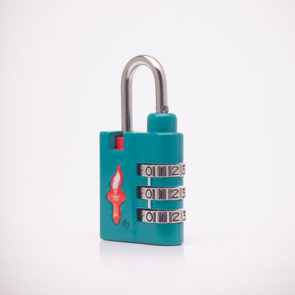 Safe Skies Sport Heavy Duty 3 Dial TSA Combination Lock in Teal-DISCONTINUED