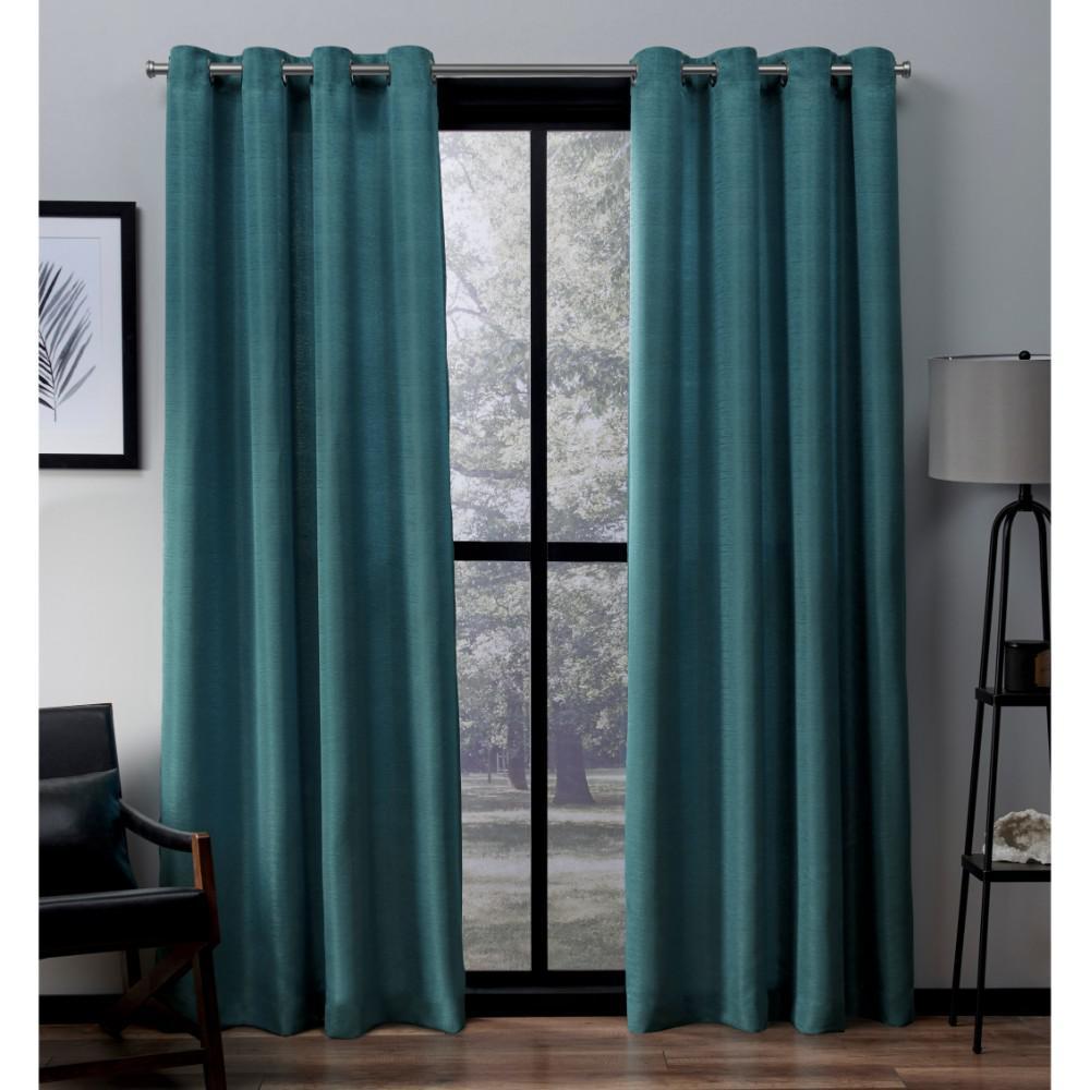 Internet 303958077 Virenze 54 In W X 84 L Faux Silk Grommet Top Curtain Panel