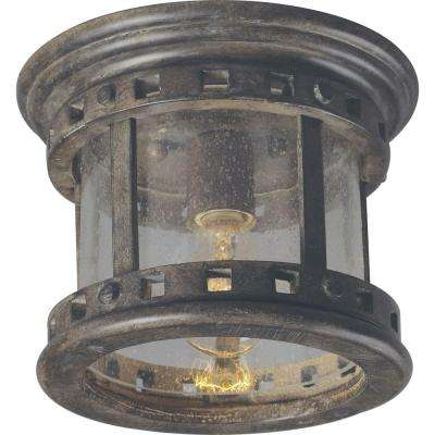 Santa Barbara VX 1-Light Sienna Outdoor Flushmount