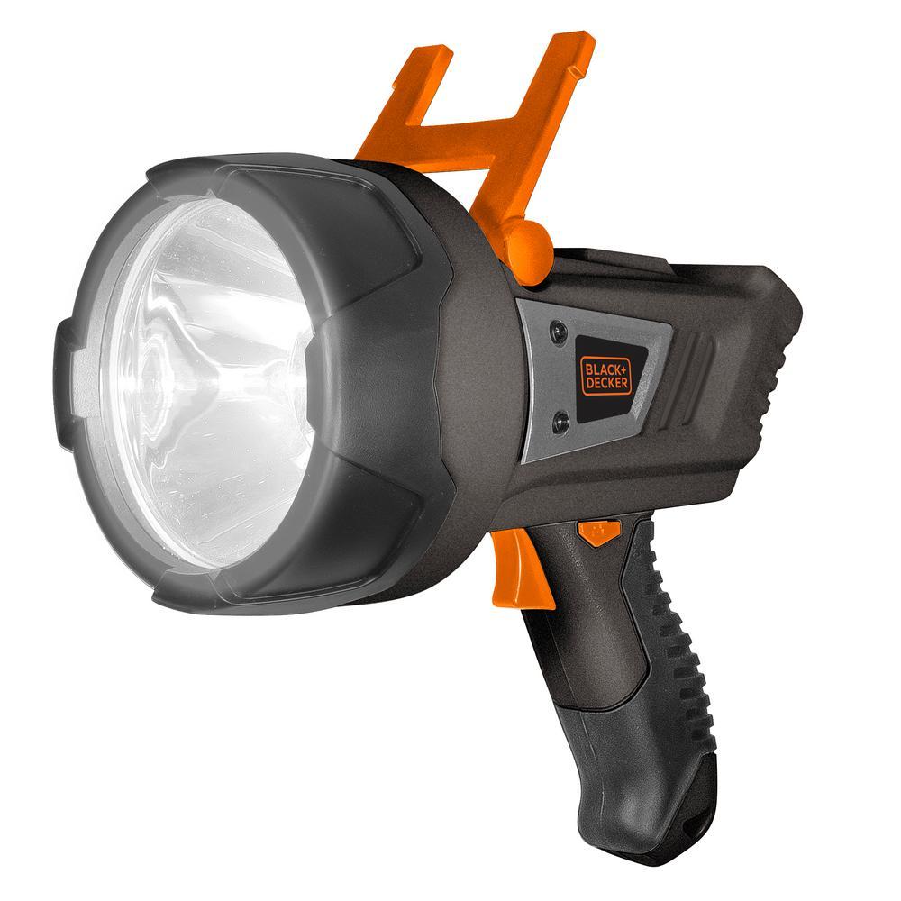 BLACK+DECKER 5-Watt LED plus USB Lithium-Ion Rechargeable Spotlight
