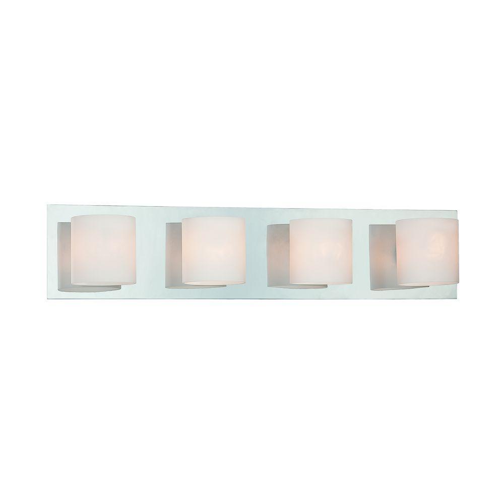 Eurofase Geos Collection 4-Light Chrome Bath Bar Light