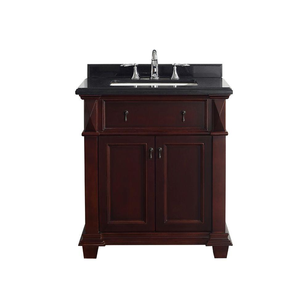 Belle Foret Kathy 30 In W X 22 D Vanity Chocolate With