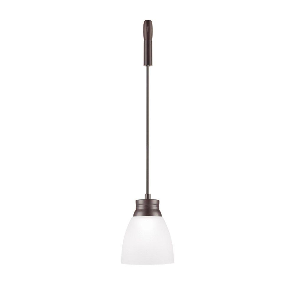 Bronze LED Flex Pendant with Frosted Glass