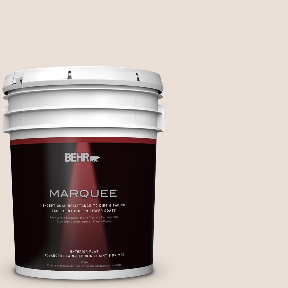BEHR MARQUEE 5-gal. #N190-1 Smokey Cream Flat Exterior Paint