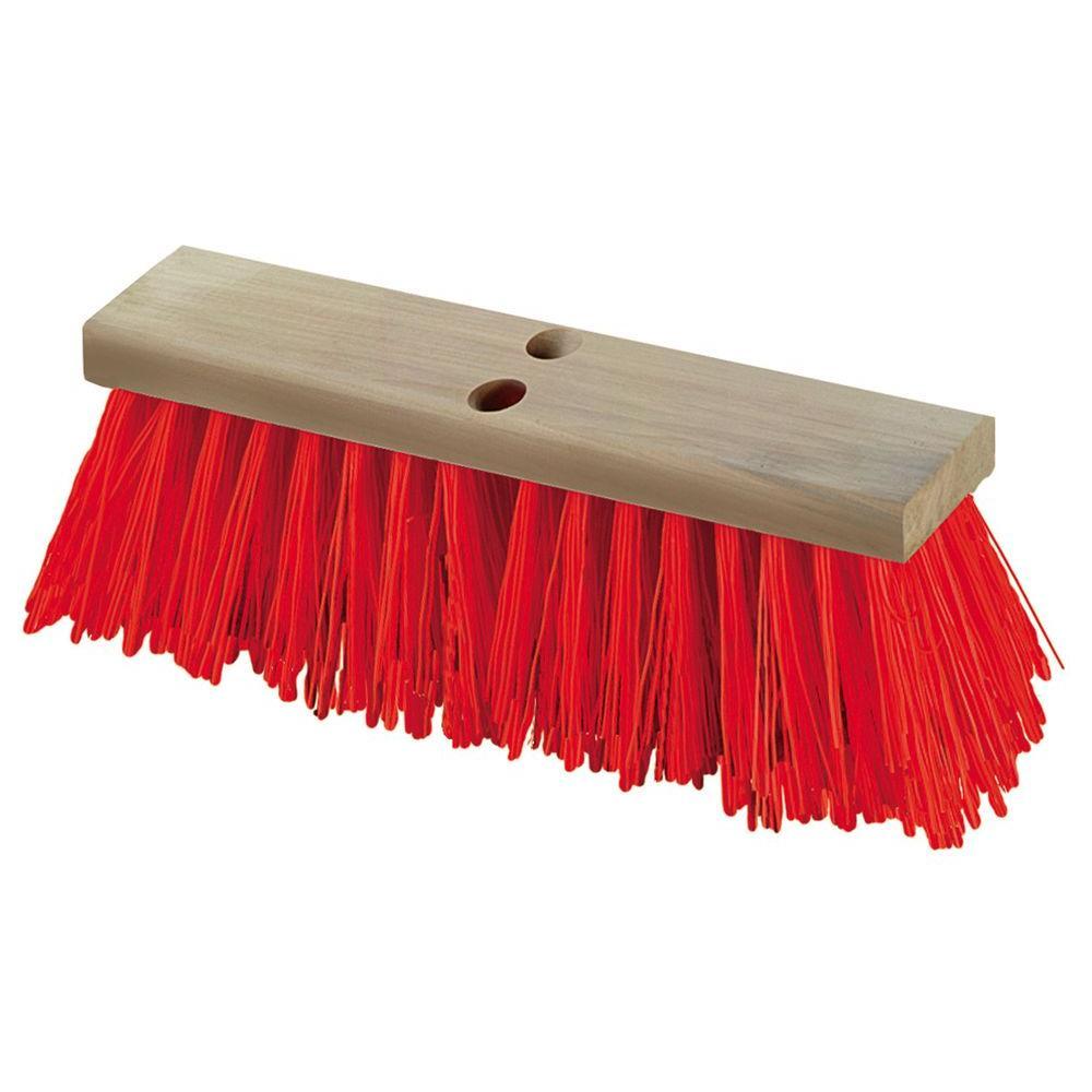 16 in. Heavy Polypropylene Orange Street Sweep (12-Pack)