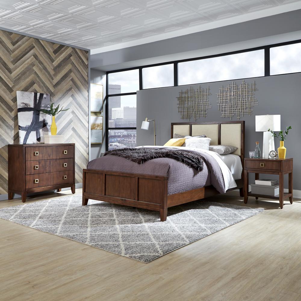 Bungalow 3-Piece Brown Queen Bedroom Set