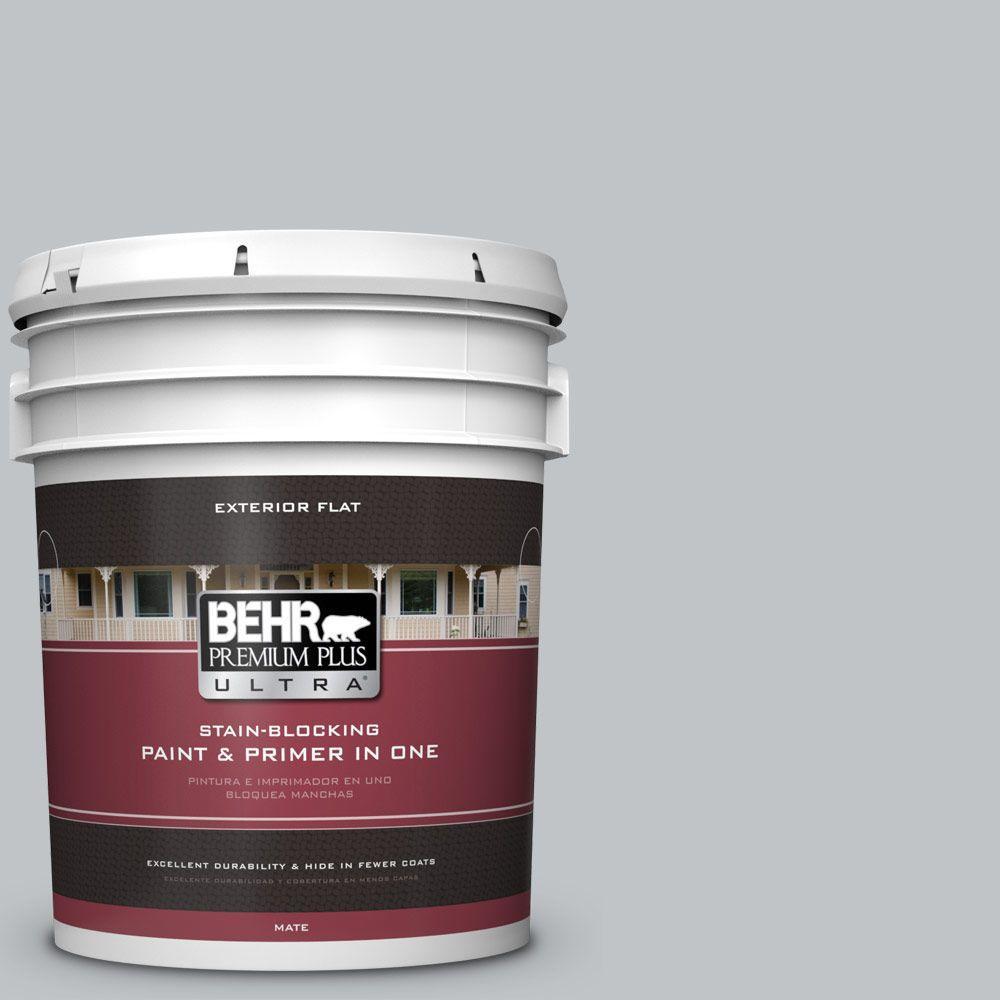 BEHR Premium Plus Ultra 5-gal. #N510-2 Galactic Tint Flat Exterior Paint