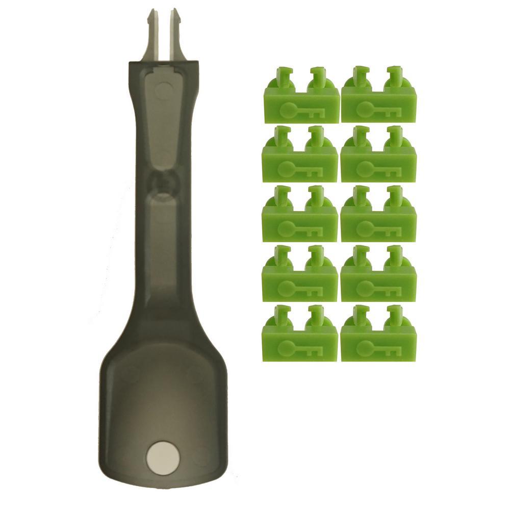 net-Lock Locking LC Port/Dust Blocker with Black Removal Tool, Green (10 + 1 Key)