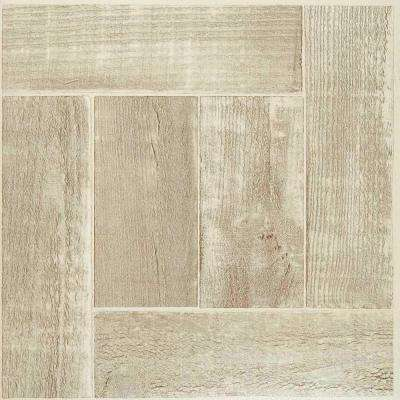 Nexus Saddlewood 12 in. x 12 in. Peel and Stick Parquet Vinyl Tile (20 sq. ft. / case)