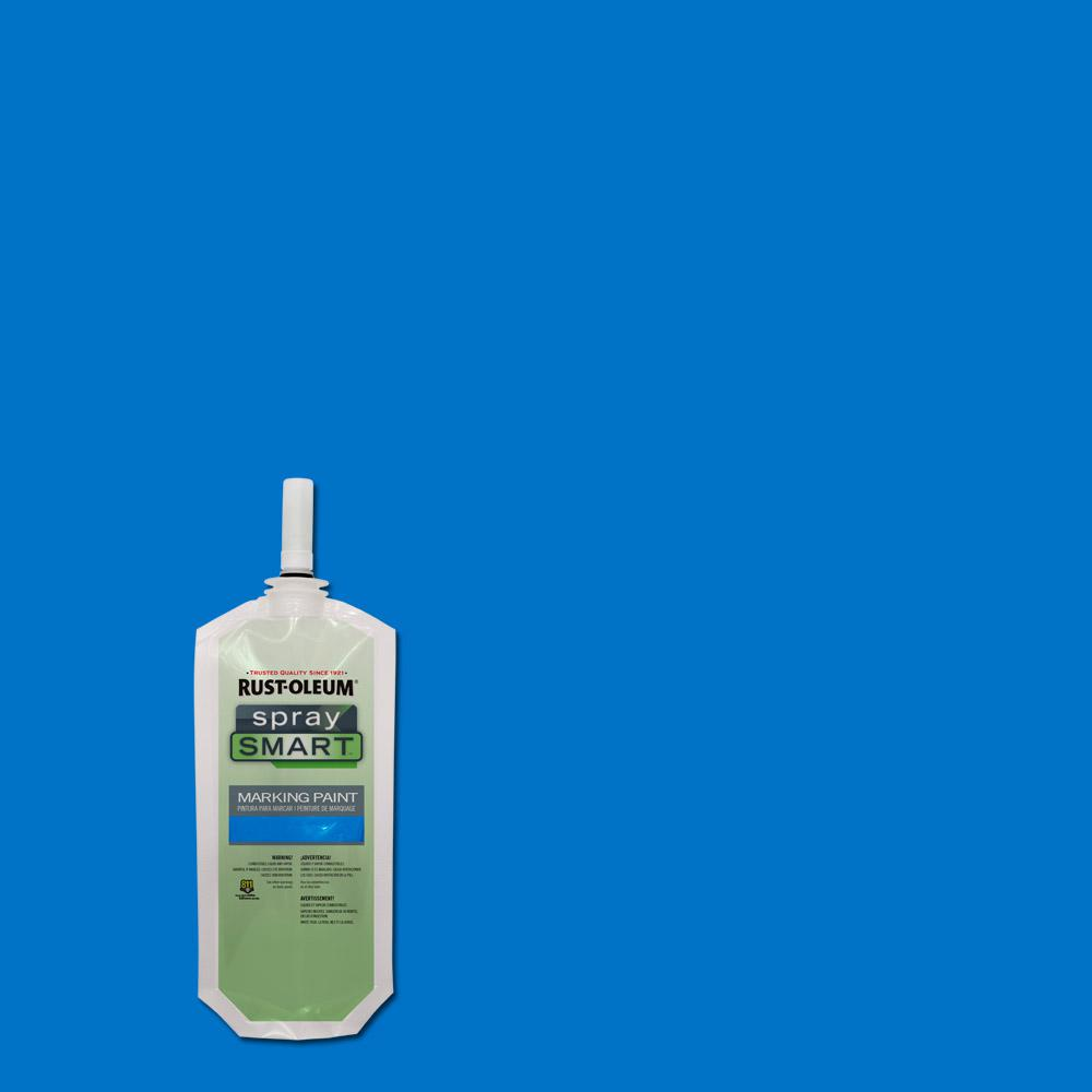 10.5 oz. Caution Blue SpraySmart Marking Paint Pouch (12-Pack)