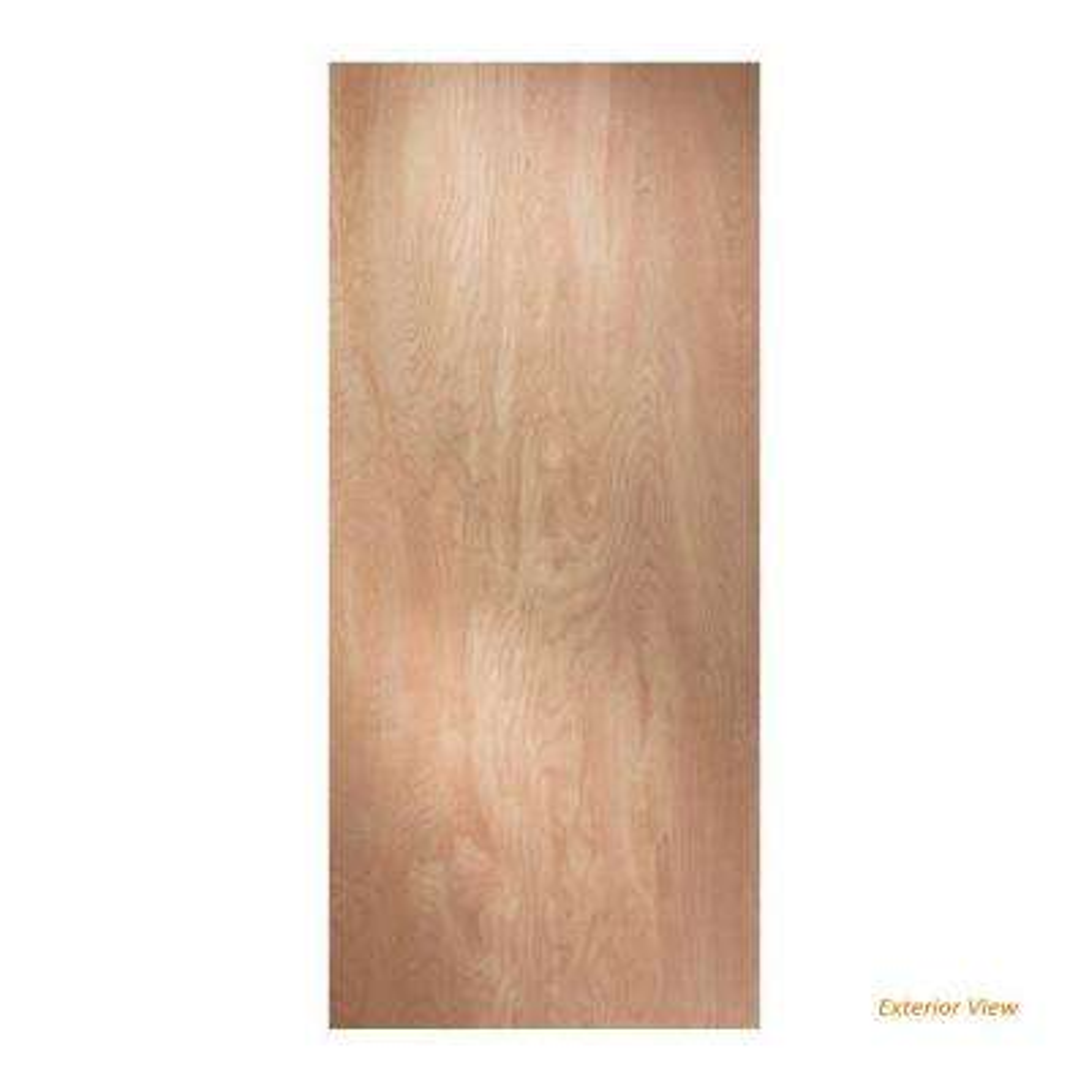 30 in. x 80 in. Hardboard Flush Unfinished Solid Core Hardwood Interior Door Slab