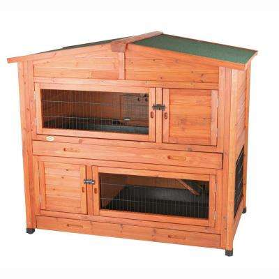 4.4 ft. x 2.7 ft. x 3.9 ft. Large 2-Story Rabbit Hutch