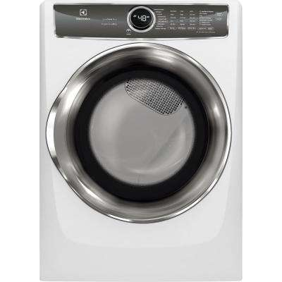 8.0 cu. ft. White Gas Dryer with Steam, Predictive Dry and Instant Refresh