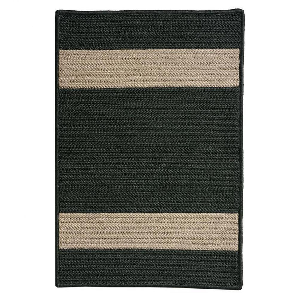 Home Decorators Collection Cafe Milano 9 Ft X 12 Ft Dark Green Sand Indoor Outdoor Braided