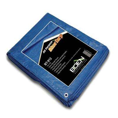 9 ft. x 12 ft. All Purpose Blue Tarp, (2-Pack)