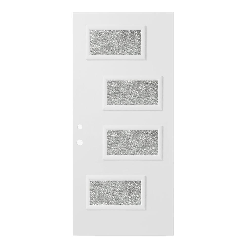 32 in. x 80 in. Beatrice Diamond 4 Lite Painted White