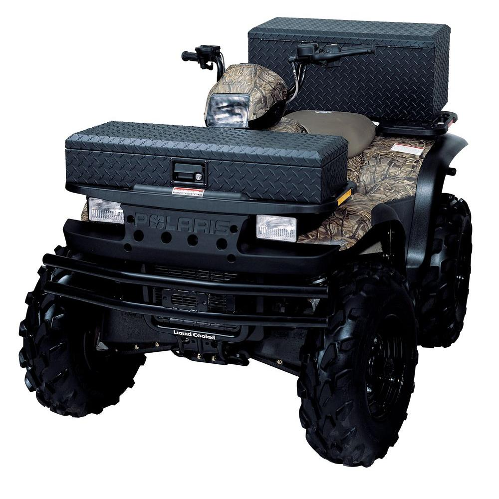Diamond Plated Black Lund 288273BK 36-Inch Aluminum ATV Storage Box