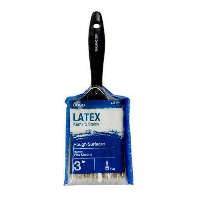 Good 3 in.  Flat Cut Polyester Paint Brush