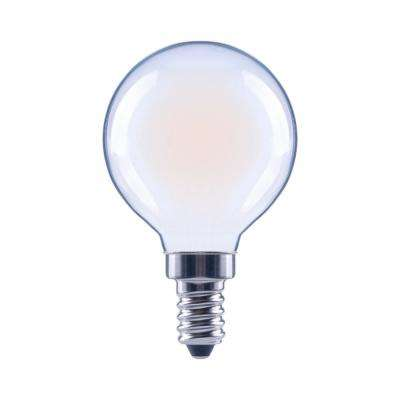 40-Watt Equivalent G16.5 Globe Dimmable Energy Star Frosted Glass Filament Vintage LED Light Bulb Soft White (48-Pack)