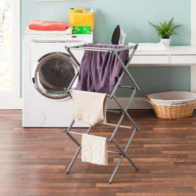 14.5 in. x 41 in. Grey 2 Tier Drying Rack
