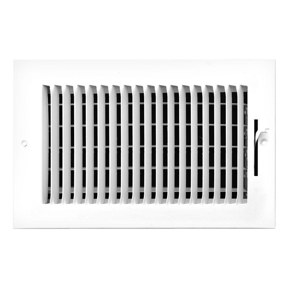 12 in. x 6 in. 1-Way Left Side Wall/Ceiling Register