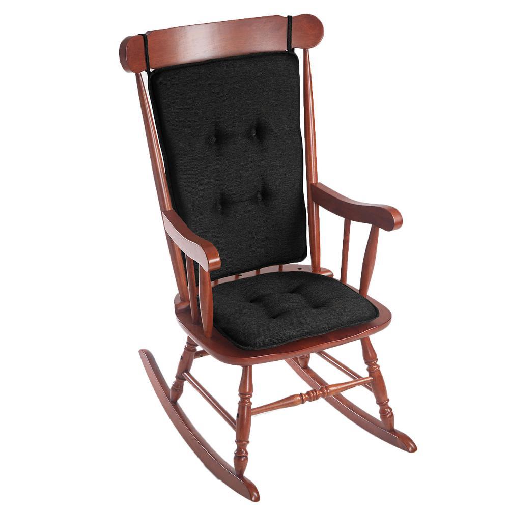 Gripper Embrace Black Tufted Rocking Chair Cushion Set 348243-19