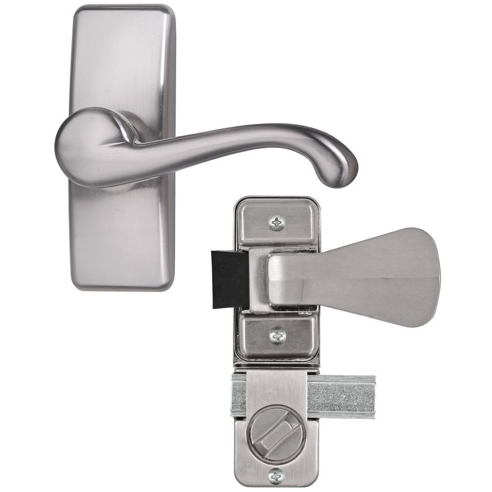Incroyable IDEAL Security Satin Nickel Coated Zinc Storm And Screen Door Lever Handle  Set With Deadbolt