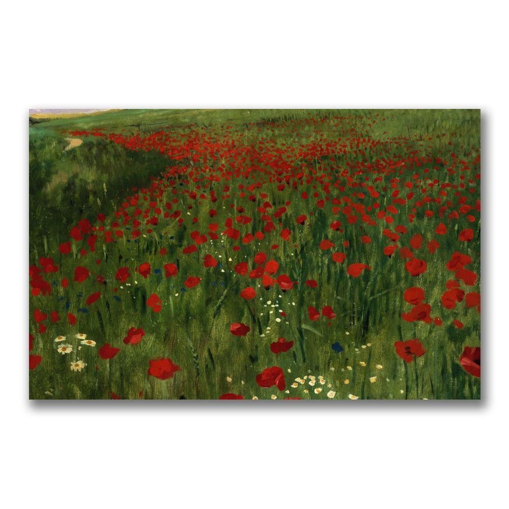 Trademark Fine Art 18 in. x 32 in. The Poppy Feild, 1896 Canvas Art