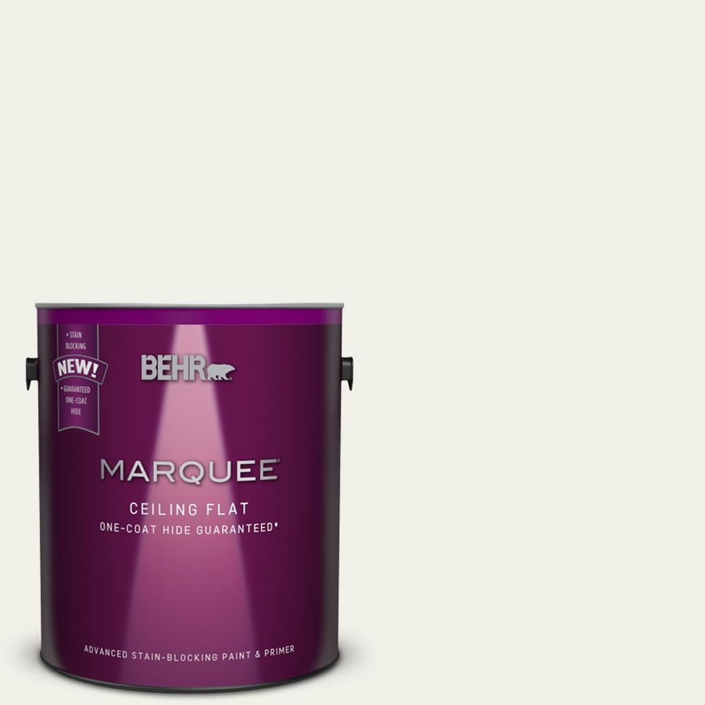 BEHR MARQUEE 1 gal  White Ceiling Flat Interior Paint and Primer in One