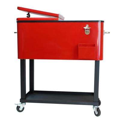 20 Gal. Steel Party Cooler Cart