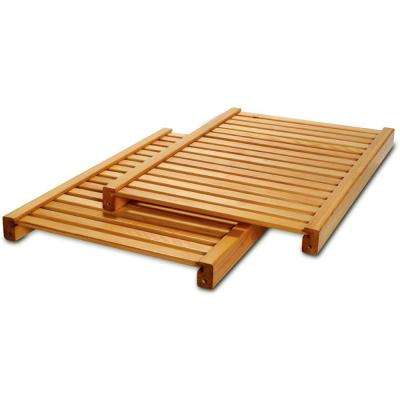 16 in. Deep Adjustable Shelf Kit in Honey Maple