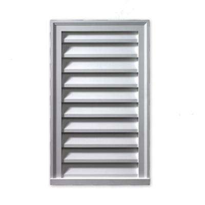 18 in. x 36 in. x 2 in. Polyurethane Functional Vertical Louver Gable Vent