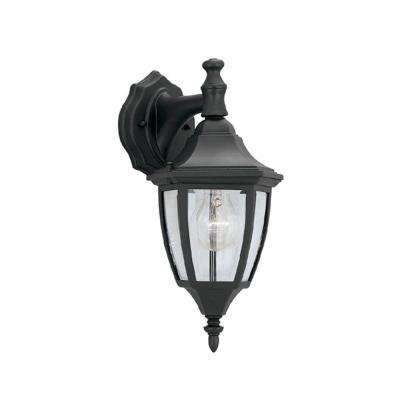 Waterbury Collection Black Outdoor Wall Mount Lantern