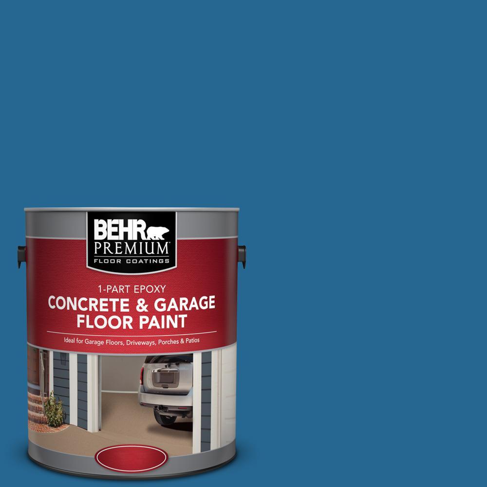 1 gal. #OSHA-1 OSHA Safety BLUE 1-Part Epoxy Satin Interior/Exterior Concrete and Garage Floor Paint