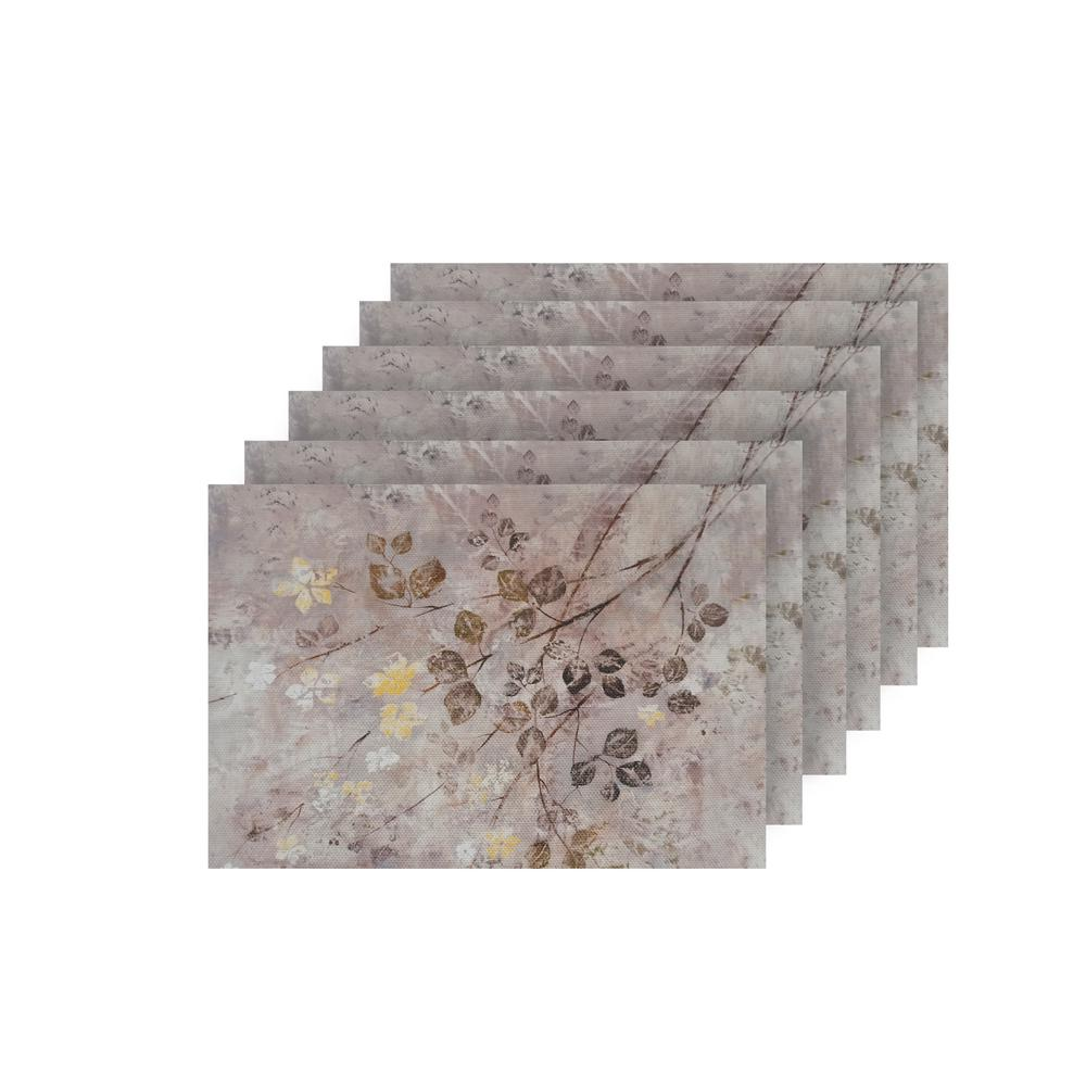 Dainty Home Garden Multi Color Textilene Placemat Set Of 6