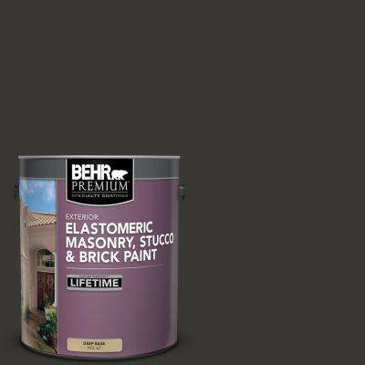 1 gal. Black Elastomeric Masonry, Stucco and Brick Exterior Paint